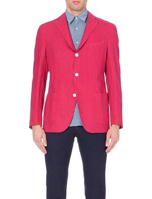 BOGLIOLI Patch pocket linen suit jacket