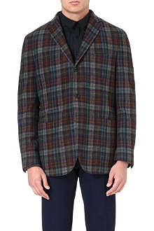 BOGLIOLI Checked wool and cashmere-blend jacket