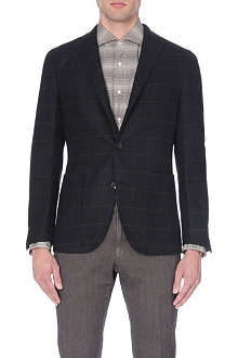 BOGLIOLI Windowpane check wool jacket