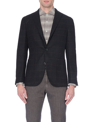 BOGLIOLI Windowpane check wool jacket