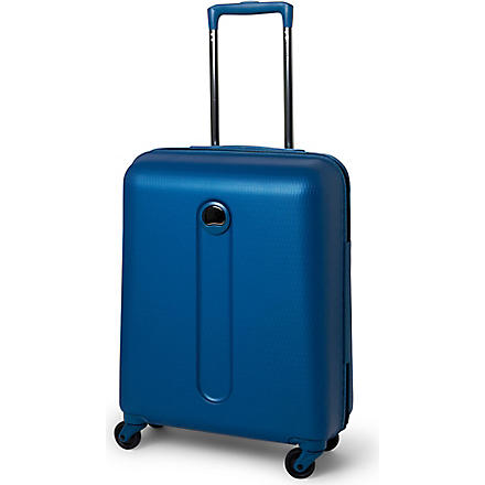 DELSEY Helium Slim four-wheel cabin suitcase 54cm (Blue