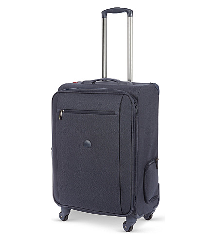 DELSEY Montmartre four-wheel expandable cabin suitcase (Dark+blue