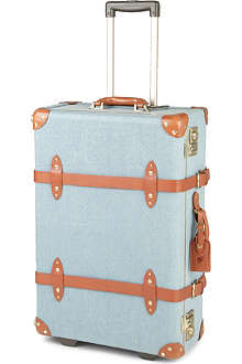 STEAMLINE LUGGAGE The Diplomat denim two-wheel suitcase