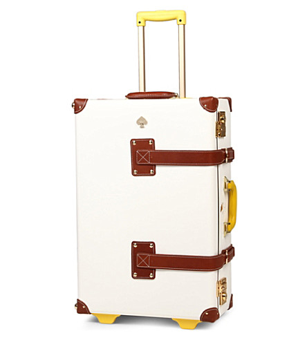 STEAMLINE LUGGAGE New Yorker Kate Spade stowaway suitcase (White