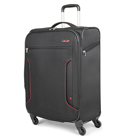 ANTLER Cyberlite large expandable four-wheel suitcase 82cm (Black/red