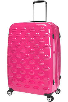 LULU GUINNESS Lips four-wheel suitcase 71cm