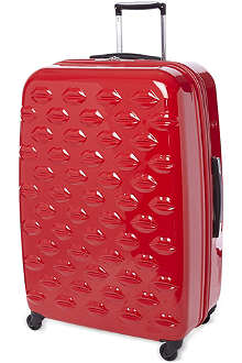 LULU GUINNESS Lips four-wheel suitcase 77cm
