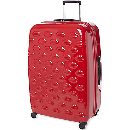 Lips four-wheel suitcase 77cm (Red