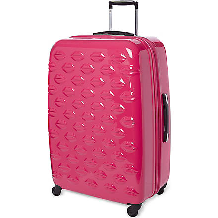 Lips four-wheel suitcase 77cm (Pink