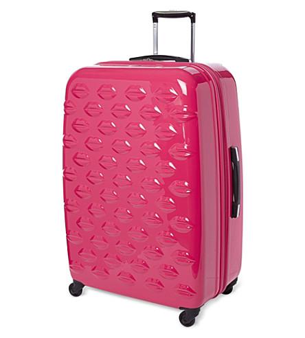 Lips four-wheel suitcase 77cm (Pink