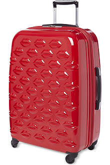 LULU GUINNESS Lips four-wheel lips suitcase 69cm