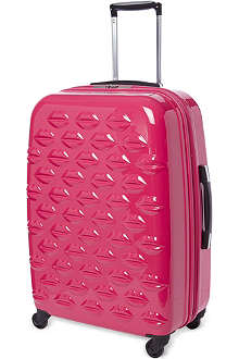 LULU GUINNESS Lips four-wheel suitcase 69cm