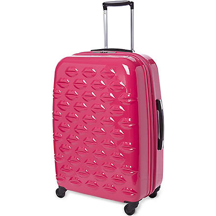 Lips four-wheel suitcase 69cm (Pink