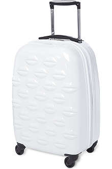 LULU GUINNESS Lip design four-wheel cabin suitcase 56cm