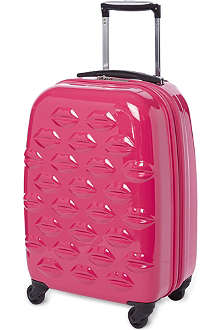 LULU GUINNESS Lips four-wheel cabin case 56cm