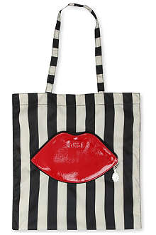 LULU GUINNESS Foldaway lips tote bag