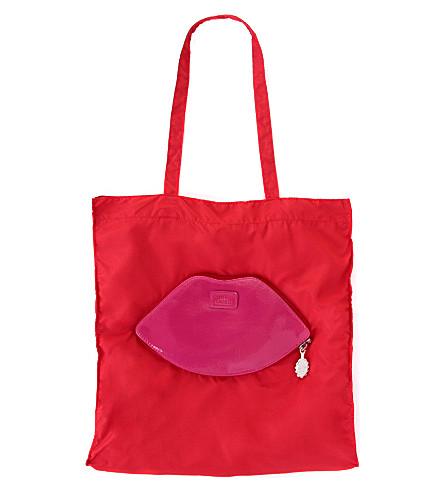 Foldaway lips shopper (Red/fuchsia