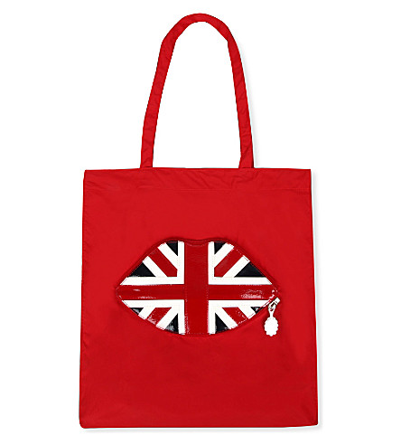 Foldaway lips shopper (Red/union jack