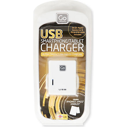 DESIGN GO Twin USB UK charger (None
