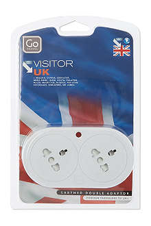 GO TRAVEL UK visitor duo adapter