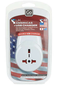 GO TRAVEL UK USB charger and adaptor