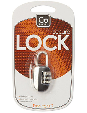 GO TRAVEL Combination padlock