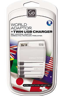 GO TRAVEL Worldwide adapter and USB charger