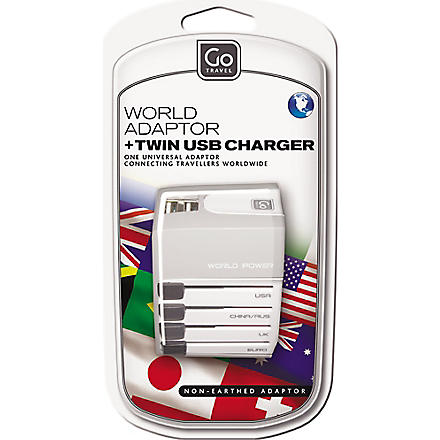DESIGN GO Worldwide adapter and USB charger (None