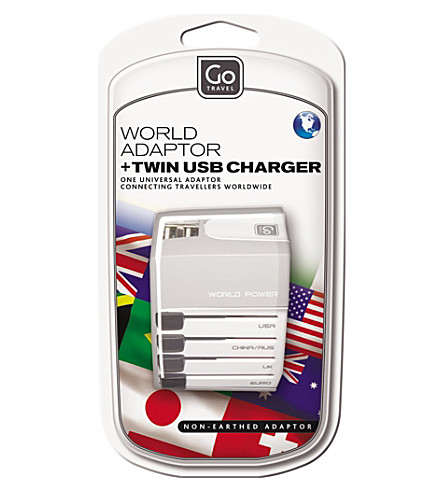 GO TRAVEL Worldwide adapter and USB charger (None