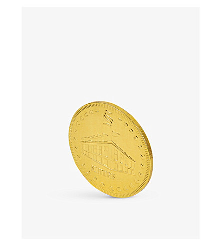 SELFRIDGES SELECTION Giant milk chocolate coin 90g