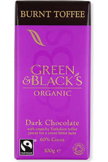 GREEN & BLACKS Burnt toffee chocolate bar 100g