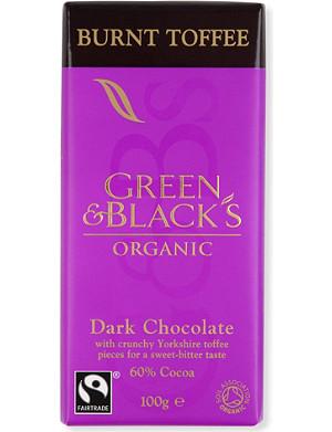 GREEN & BLACKS Burnt toffee chocolate bar 100g
