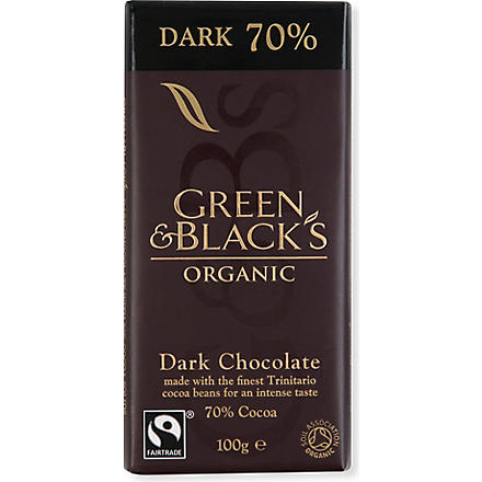 GREEN & BLACKS Organic dark 70% chocolate bar 100g