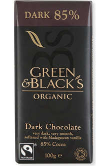 GREEN & BLACKS Organic dark 85% chocolate bar 100g