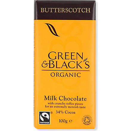 GREEN & BLACKS Butterscotch organic milk chocolate bar 100g