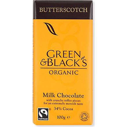 GREEN & BLACKS Butterscotch organic milk chocolate bar 100g