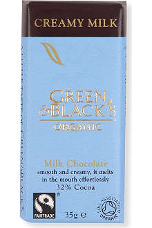 GREEN & BLACKS Organic creamy milk chocolate bar 35g