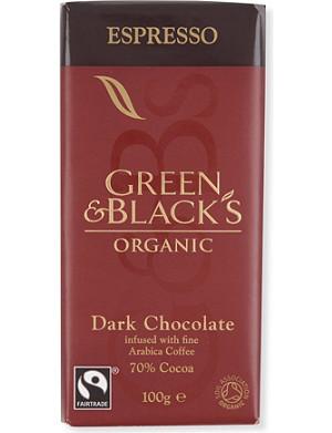 GREEN & BLACKS Espresso organic dark chocolate bar 100g