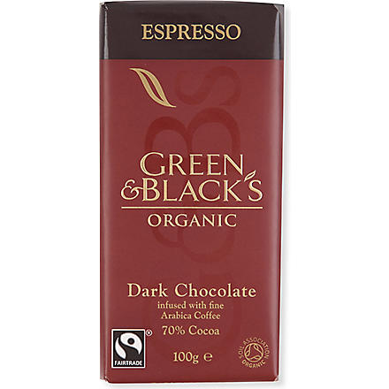 GREEN & BLACKS Espresso organic dark chocolate bar 100g