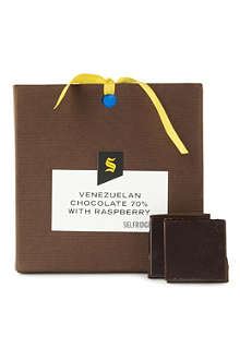 SELFRIDGES SELECTION Venezuelan dark chocolate with raspberry 90g