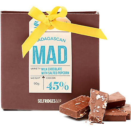 SELFRIDGES SELECTION Madagascan milk chocolate with salted popcorn 90g