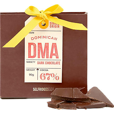 SELFRIDGES SELECTION Single Origin Dominican dark chocolate 90g