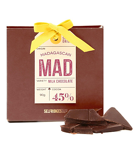 SELFRIDGES SELECTION Single Origin Madagascan Milk Chocolate 90g