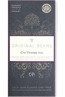 ORIGINAL BEANS Cru Virunga 70% organic dark chocolate bar 70g
