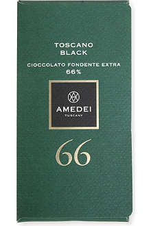 AMEDEI Toscano Black 66% extra dark chocolate bar 50g