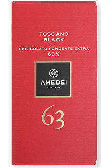 AMEDEI Toscano Black 63% extra dark chocolate bar 50g