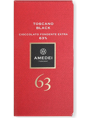 AMEDEI Toscano Black 63% extra dark chocolate bar 50g