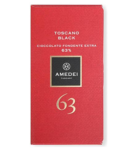 AMEDEI 托斯卡诺黑 63% 额外的暗巧克力酒吧50g