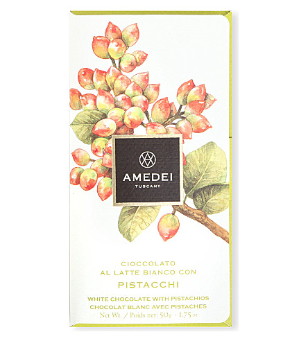 AMEDEI White chocolate bar with pistachios 45g