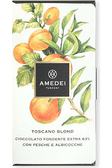 AMEDEI Toscano Blond chocolate bar with yellow fruits 50g